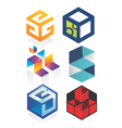 cubic logo vector image vector image
