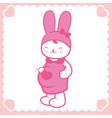 cute pregnant bunny vector image