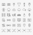 data science line icons set vector image vector image