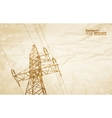 Electrical Transmission Line vector image vector image