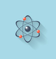 Flat web internet icon Atomic model vector image