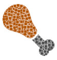 fried chicken leg mosaic of squares and circles vector image