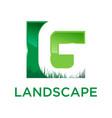 g green landscape logo vector image vector image