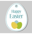 Happy Easter gift tag vector image vector image