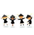 Happy graduates vector | Price: 3 Credits (USD $3)