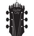 headstock city vector image vector image