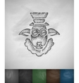 hipster sheep icon Hand drawn vector image