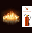 hot burning glowing concept vector image vector image