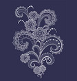 lace pattern with flowers vector image vector image