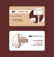 mail box envelope business card post vector image vector image