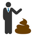 manager show shit flat icon vector image vector image