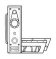 mechanical letter l engraving vector image vector image