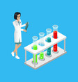 medical worker woman in lab vector image vector image