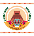 mexican independence day ancient pyramid catrina vector image vector image