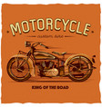 motorcycle t-shirt label design vector image vector image