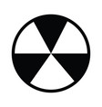 nuclear icon sign symbol outline vector image