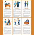 office work process professional relationships vector image vector image