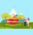 people traveling to china asian country landscape vector image vector image