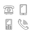 phone line icons vector image