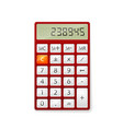 red office calculator vector image