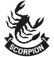 scorpion label vector image