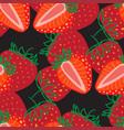 Seamless pattern strawberrys design colorful