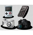 set old gadget isolated on transparent vector image