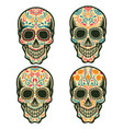 set sugar skull isolated on white background vector image vector image