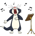 singing cat vector image vector image
