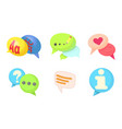 speak bubble icon set cartoon style vector image