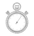 stopwatch schematic picture from futuristic vector image vector image