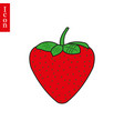 strawberry icon symple flat design vector image