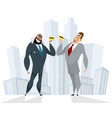 successful cooperation of businessmen vector image