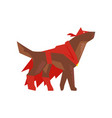 Superhero dog character in red cape and mask