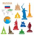 symbols city to russia vector image vector image