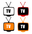 TV icons vector image vector image
