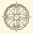 Vintage graphic compass vector image