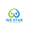 we success star logo designs vector image vector image