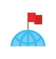 world flag pin gps map and navigation vector image vector image