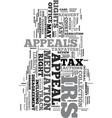 your irs tax appeal rights text word cloud concept vector image vector image