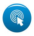 cursor click round icon blue vector image