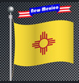 national flag of new mexico vector image