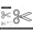 Cut line icon vector image