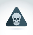 a human skull in a triangle Dead head ab vector image vector image