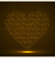 abstract heart glowing particles neon heart vector image vector image