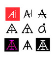 ai text icon for logo and symbol art vector image vector image