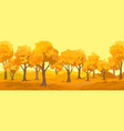 autumn rural landscape autumn forest vector image