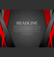 Black and red corporate tech striped design vector image vector image