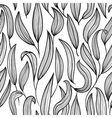 black and white floral seamless vector image vector image