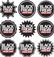 Black friday special offer black signs set vector image vector image